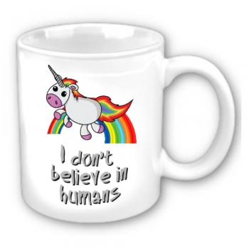 Κούπα Unicorn I don't believe in humans