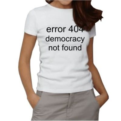 Error 404 democracy not found