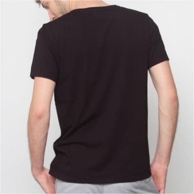 T-Shirt V-Neck Slub