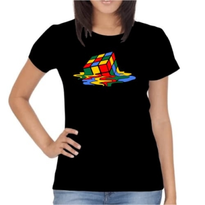 T-Shirt Melted Cube
