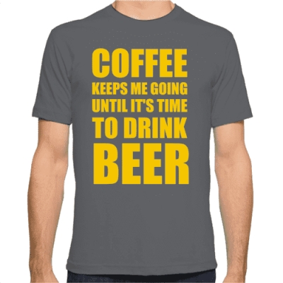 T-Shirt Coffee and Beer από το Gadget Box