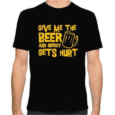 Ανδρικό T-Shirt Give me the Beer