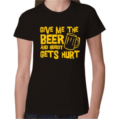 Γυναικείο T-Shirt Give me the Beer
