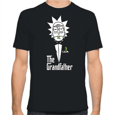 T-Shirt The Grandfather Rick για απίστευτους παππούδες, αλλά και φαν του Rick and Morty!
