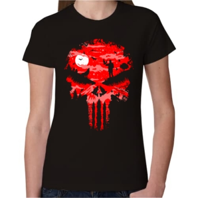 Γυναικείο T-Shirt Punisher Red