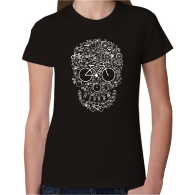 Γυναικείο T Shirt Bicycle Skull