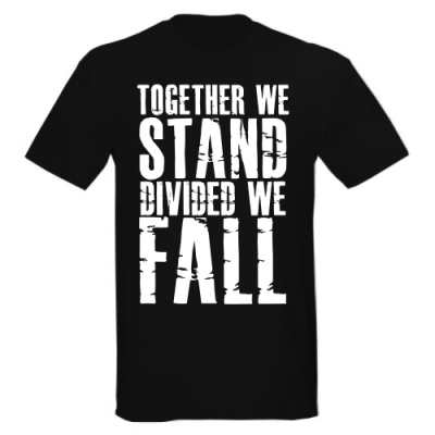 T-Shirt Together we Stand Divided we Fall