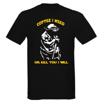 T-Shirt Yoda - Coffee I need