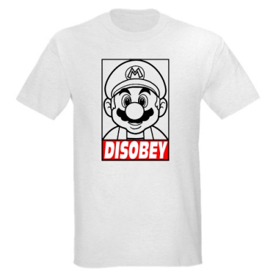 T-Shirt Super Mario Disobey