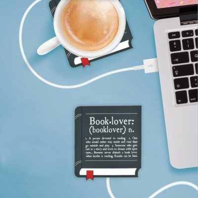 USB Cup Warmer Book Lover